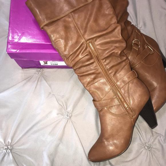 Rampage Womens Irika Over the Knee heeled Boot